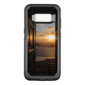 Santorini sunset through door OtterBox commuter samsung galaxy s8 case