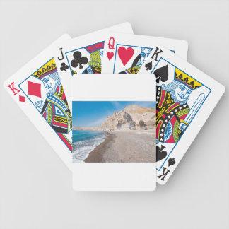 Santorini Vlichada beach Bicycle Playing Cards