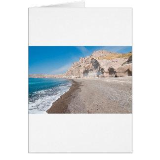 Santorini Vlichada beach Card