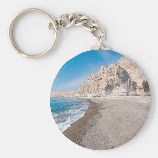 Santorini Vlichada beach Keychain