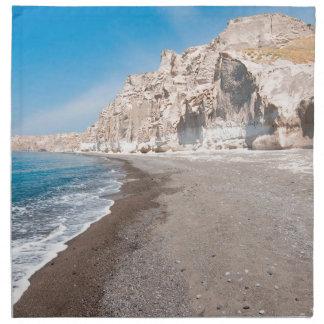 Santorini Vlichada beach Napkin