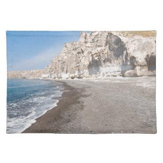 Santorini Vlichada beach Placemat