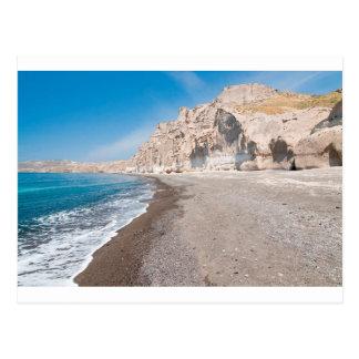 Santorini Vlichada beach Postcard