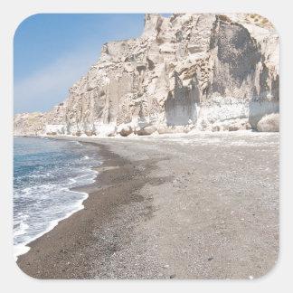 Santorini Vlichada beach Square Sticker