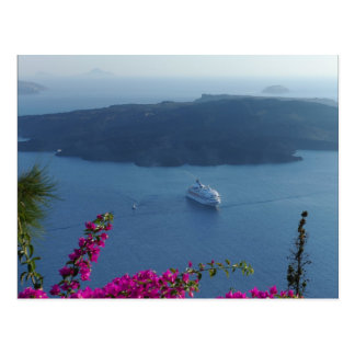 Santorini Waters Postcard