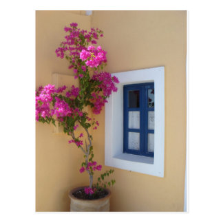 Santorini Window Postcard