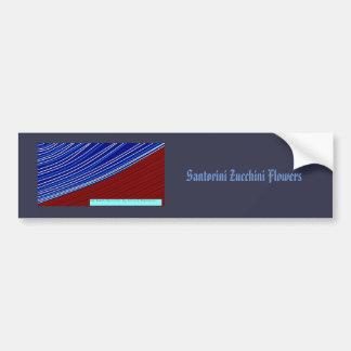 santorini zucchini flowers bumper sticker
