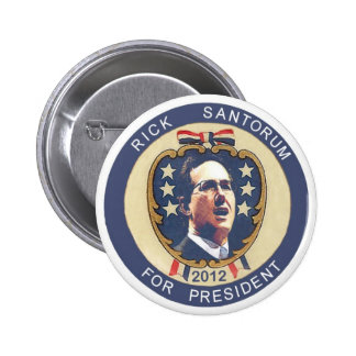 Santorum 2012 retro design 2 inch round button