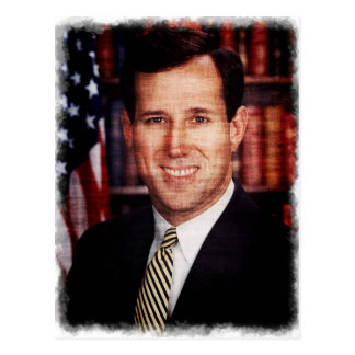 Santorum Portrait Art Photo Postcard