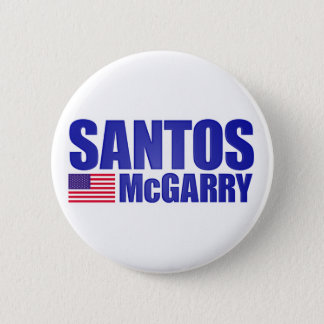 Santos McGarry 2 Inch Round Button