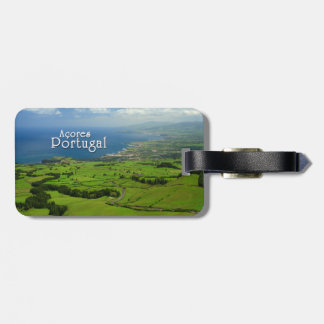 Sao Miguel green landscape Luggage Tag