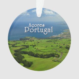 Sao Miguel green landscape Ornament