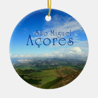 Sao Miguel island Azores Ceramic Ornament