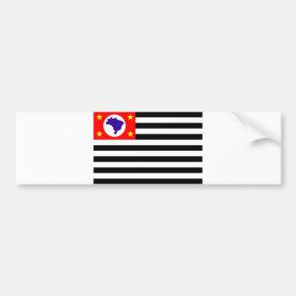 Sao Paulo city flag brazil symbol Bumper Sticker