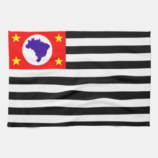 Sao Paulo city flag brazil symbol Kitchen Towel