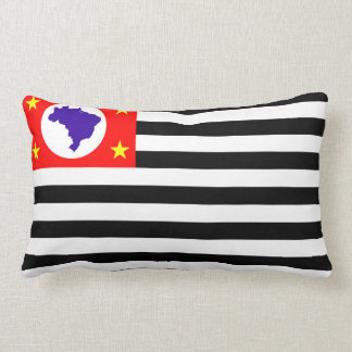 Sao Paulo city flag brazil symbol Lumbar Pillow