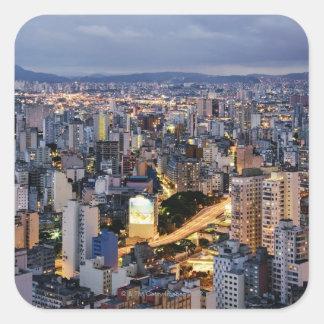 Sao Paulo Cityscape 2 Square Sticker