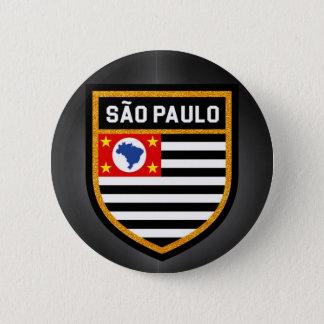 São Paulo Flag 2 Inch Round Button