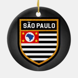 São Paulo Flag Ceramic Ornament