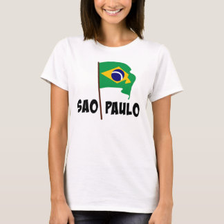 Sao Paulo, Flag of Brazil T-Shirt