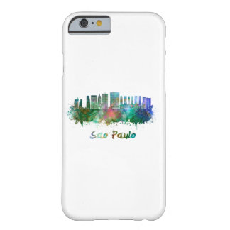 Sao Paulo skyline in watercolor Barely There iPhone 6 Case