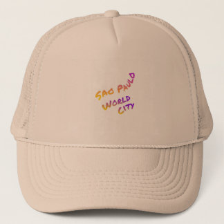 Sao Paulo world city, colorful text art Trucker Hat