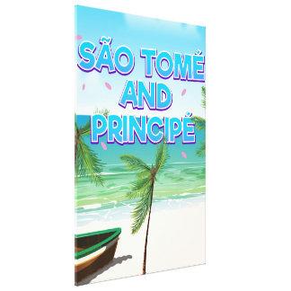 São Tomé and Principé beach Canvas Print