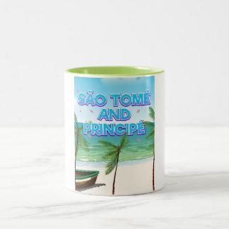 São Tomé and Principé beach Two-Tone Coffee Mug