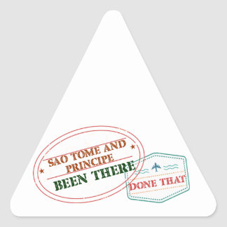 Sao Tome and Principe Been There Done That Triangle Sticker