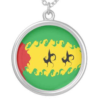 Sao Tome and Principe Gnarly Flag Pendants