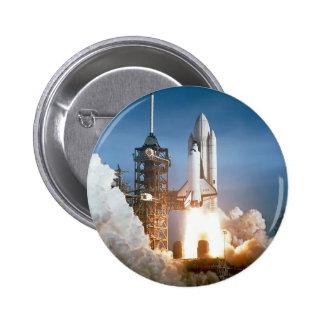 Sapce Shuttle Launch 2 Inch Round Button