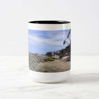 Sapelo Island Beach Two-Tone Coffee Mug