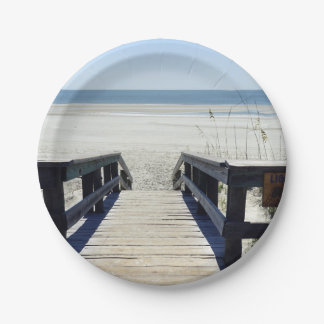 Sapelo Island View 7 Inch Paper Plate