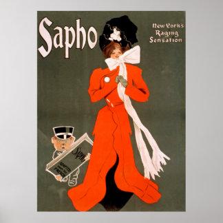 Sapho Vintage Poster