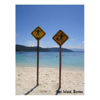 Sapi Island, Borneo Postcard