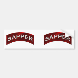 Sapper Tab set Bumper Sticker