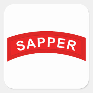 SAPPER Tab Square Sticker