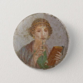 Sapphic Pride Badge (Sappho Fresco Version) 2 Inch Round Button