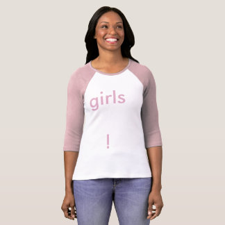 "Sapphic Pride T-Shirt (""Girls!"" Pink Version)"