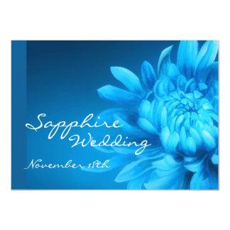 Sapphire 45th blue wedding party invite