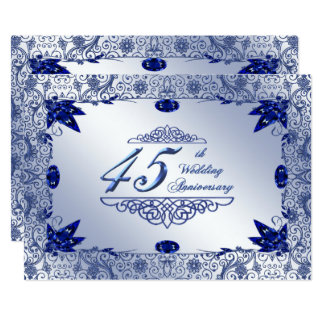 Sapphire 45th Wedding Anniversary 5x7 Invite