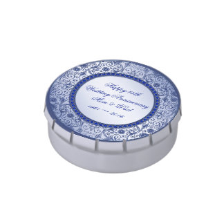 Sapphire 45th Wedding Anniversary Candy Tin