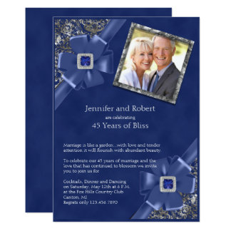 Sapphire 45th Wedding Anniversary Invitation