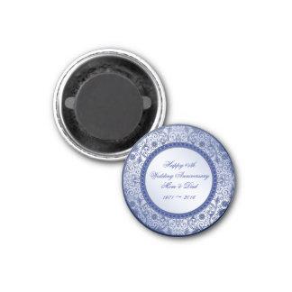 Sapphire 45th Wedding Anniversary Round Magnet