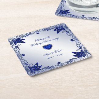 Sapphire 45th Wedding Anniversary Square Coaster