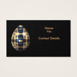 Sapphire and Gold Imperial Easter Egg Business Card