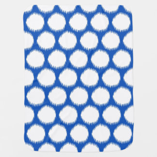 Sapphire Asian Moods Ikat Dots Baby Blanket
