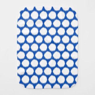 Sapphire Asian Moods Ikat Dots Baby Burp Cloth