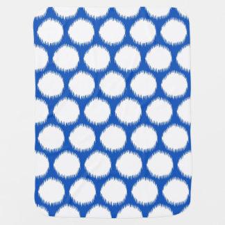Sapphire Asian Moods Ikat Dots Receiving Blankets
