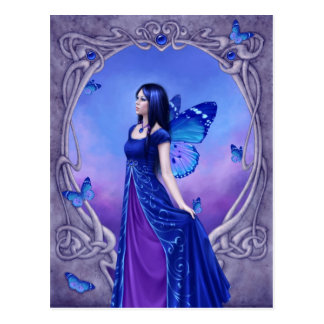 Sapphire Birthstone Fairy Postcard